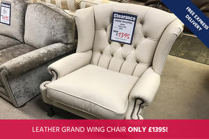 Frank Knighton Grand Wing Chair - Save 50%!