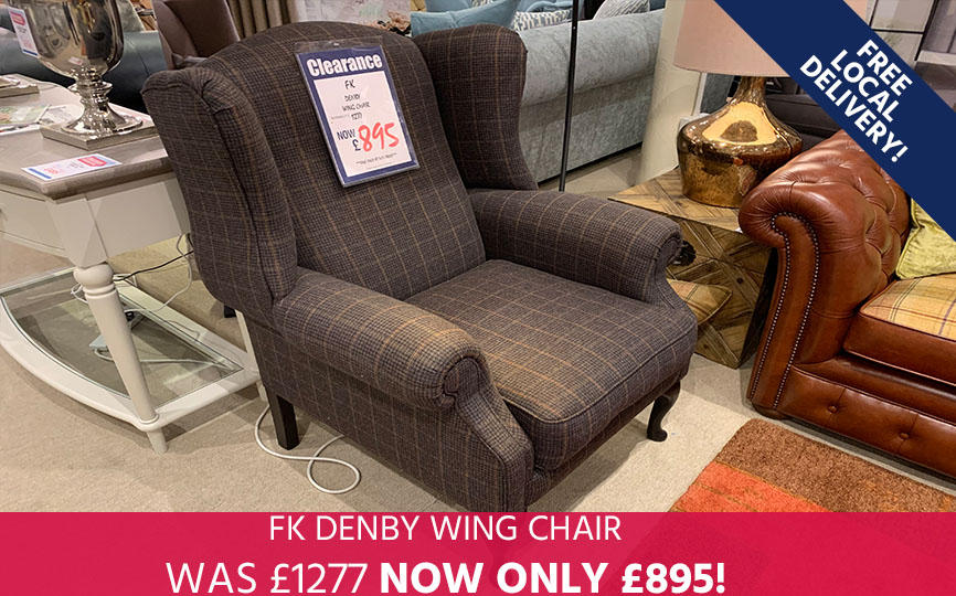 FK Denby Wing Chair - Save 30%!